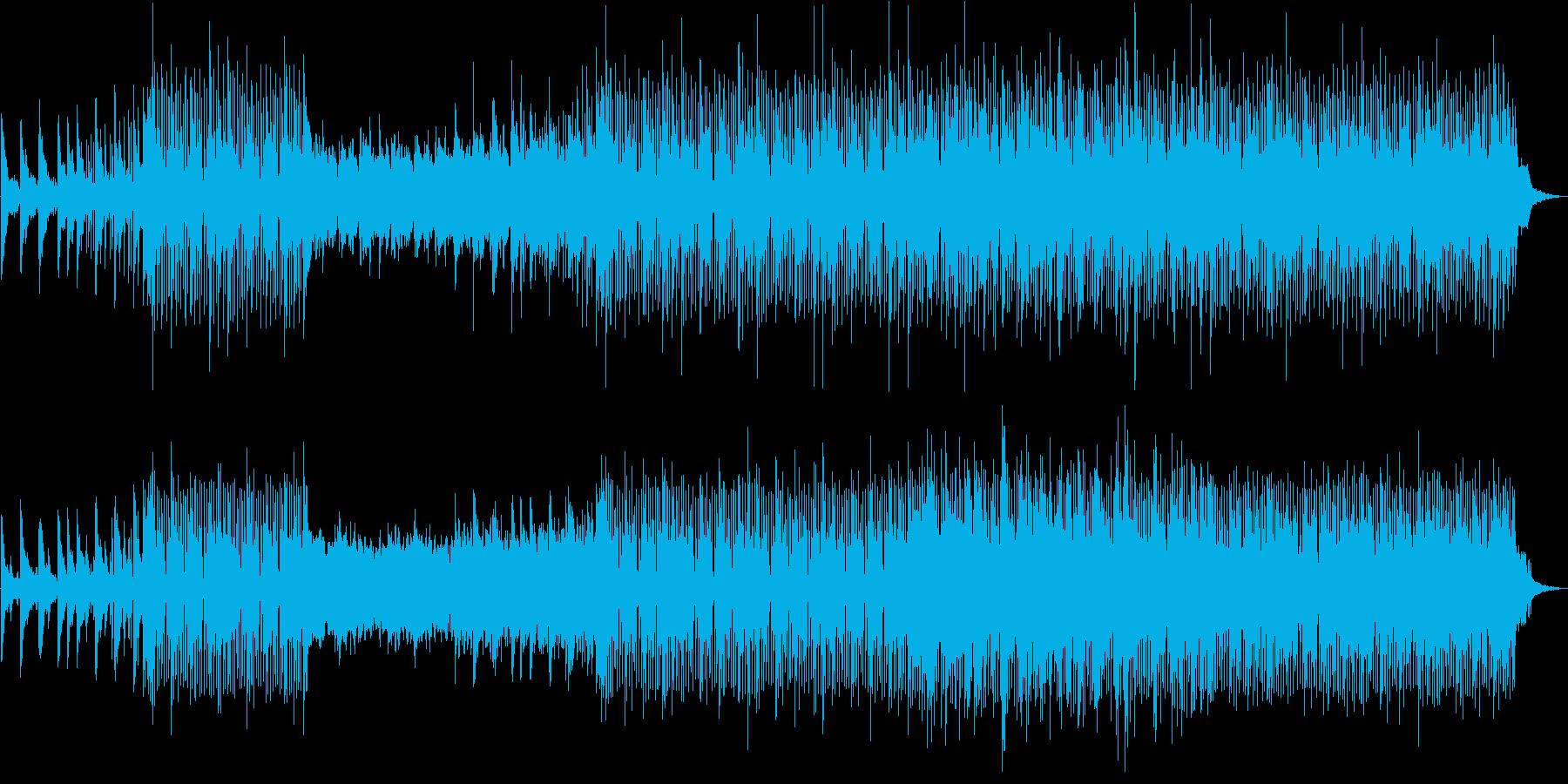 『心の温度ちょっと高め』軽快なポップスの再生済みの波形