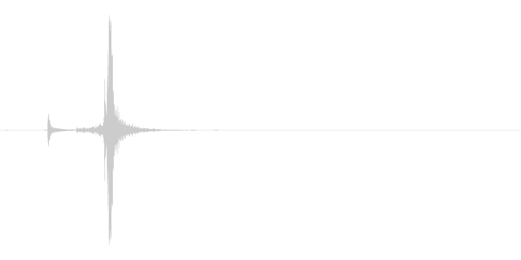 カチャ(Zippoライターを閉じる音)の未再生の波形
