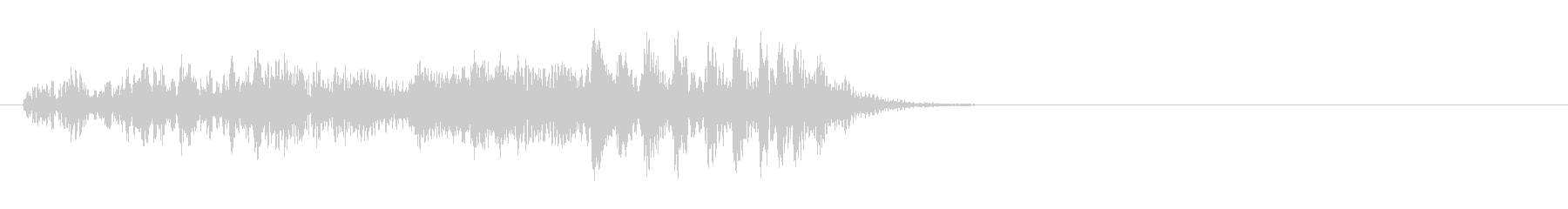 スチールドラムの長い上昇音【キラキラ・・の未再生の波形