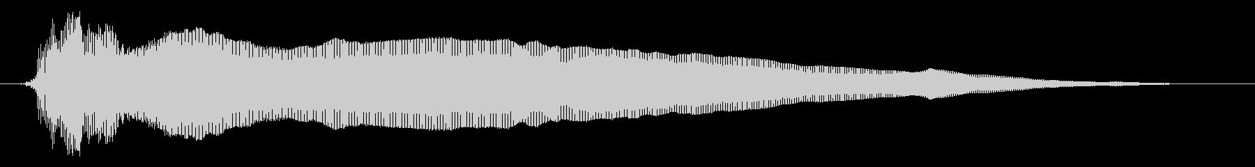 アオーン(裏声)の未再生の波形