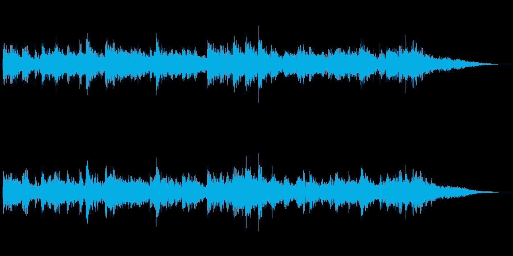 高音質♪和風出囃子ジングル侍姫曲の再生済みの波形