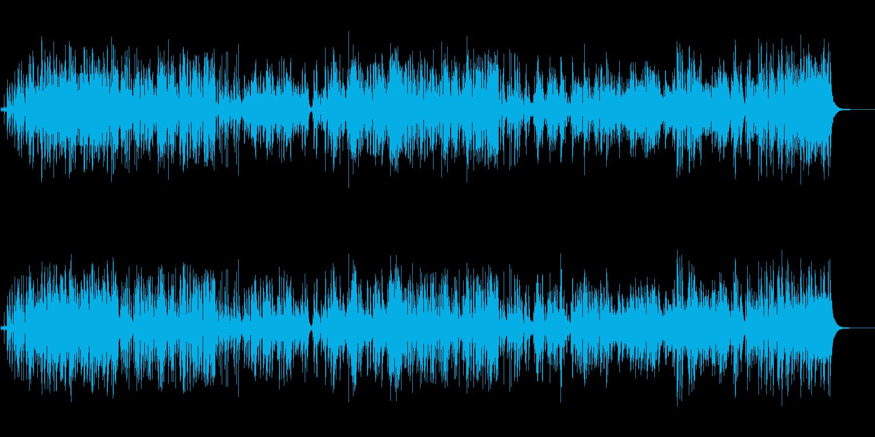 愉快なジャズの再生済みの波形