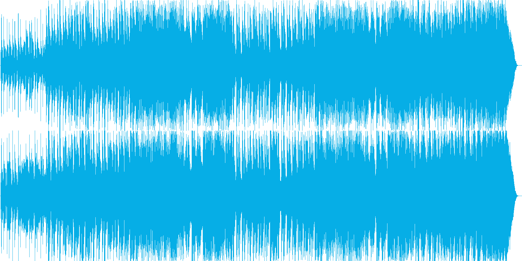哀しい物の怪さんの和風ふうの曲の再生済みの波形