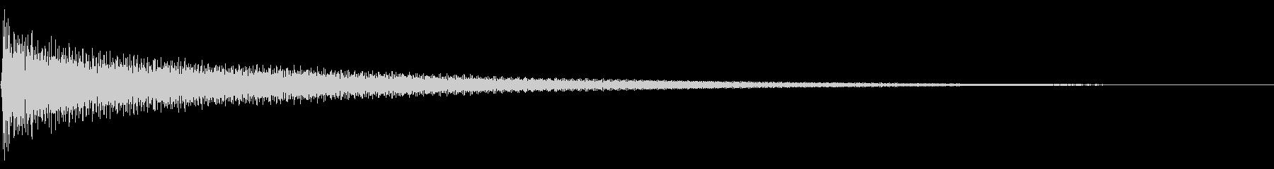 プレーン シンプル ナイロンギター の未再生の波形