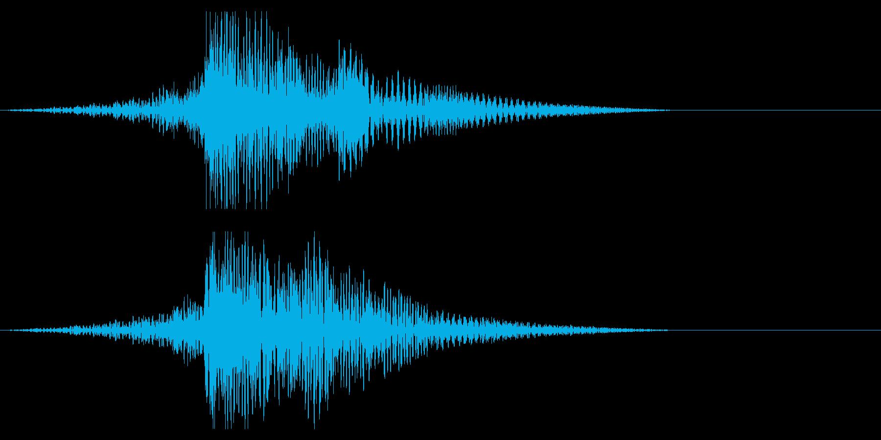 ホラー系アタック音111の再生済みの波形