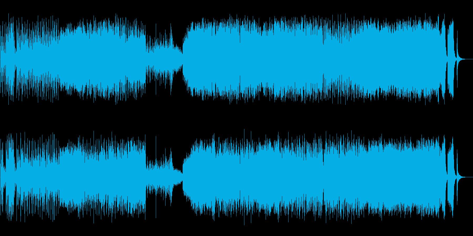 ピアノとストリングスによる爽やかな楽曲の再生済みの波形