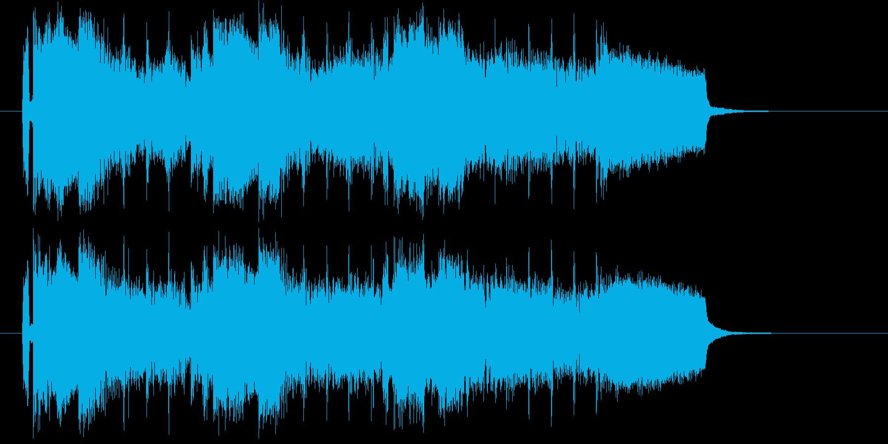 明るく弾みのある元気なポップな曲の再生済みの波形