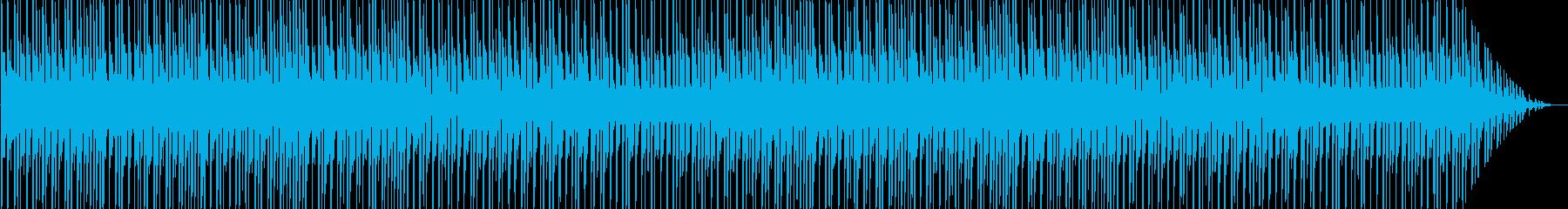 アップテンポのキラキラしたテクノ音の再生済みの波形
