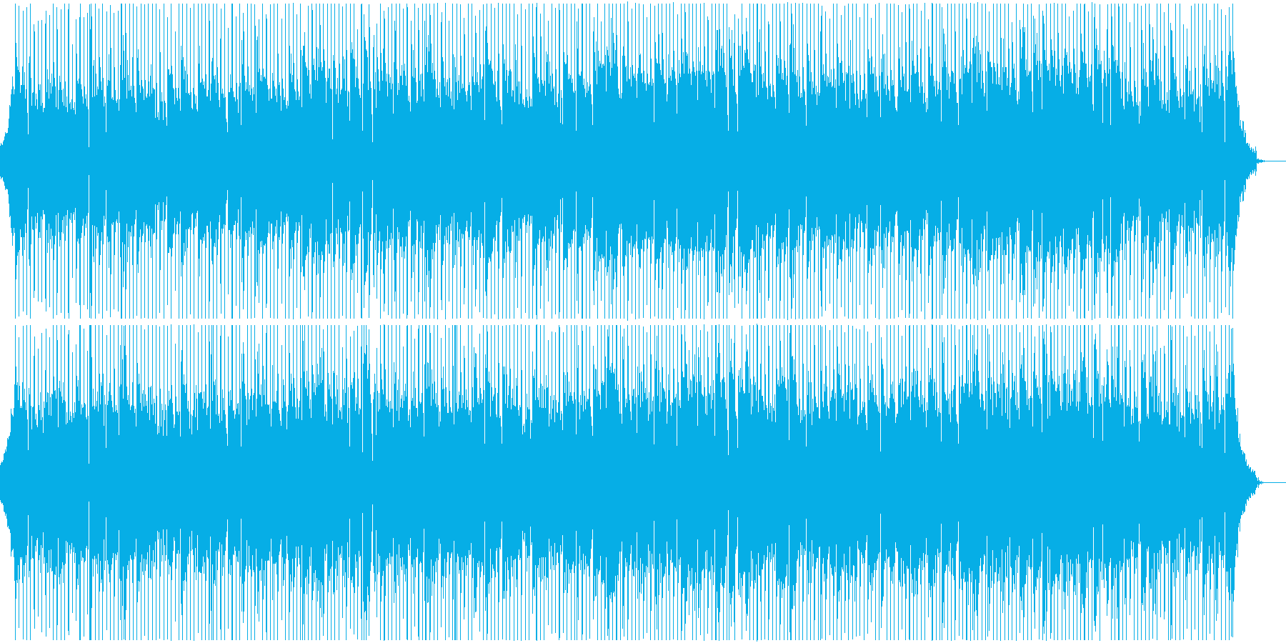 爽やかで明るいアップテンポ楽曲、企業VPの再生済みの波形