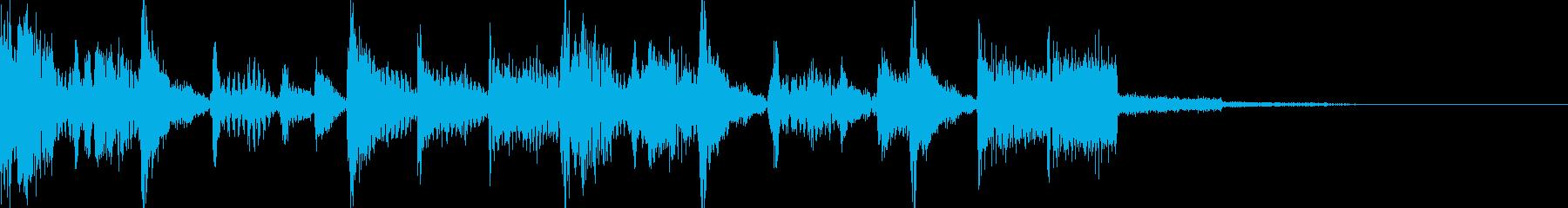 ブレイクビーツなジングルの再生済みの波形