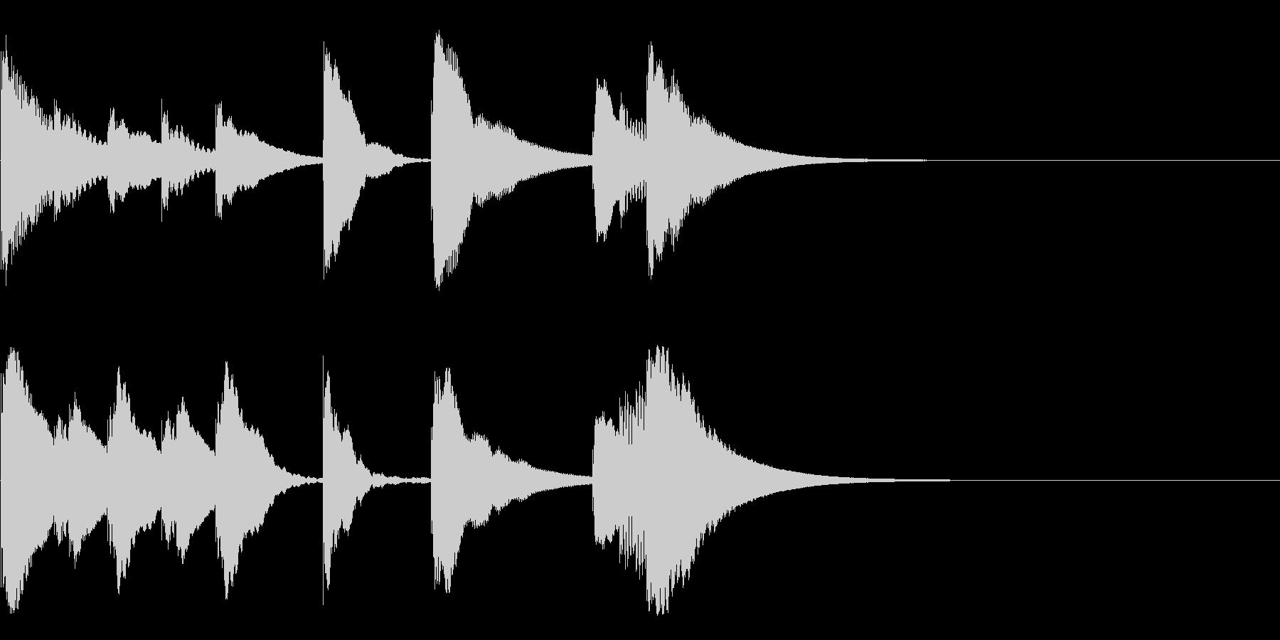 シロフォンのかわいい3秒ジングルの未再生の波形