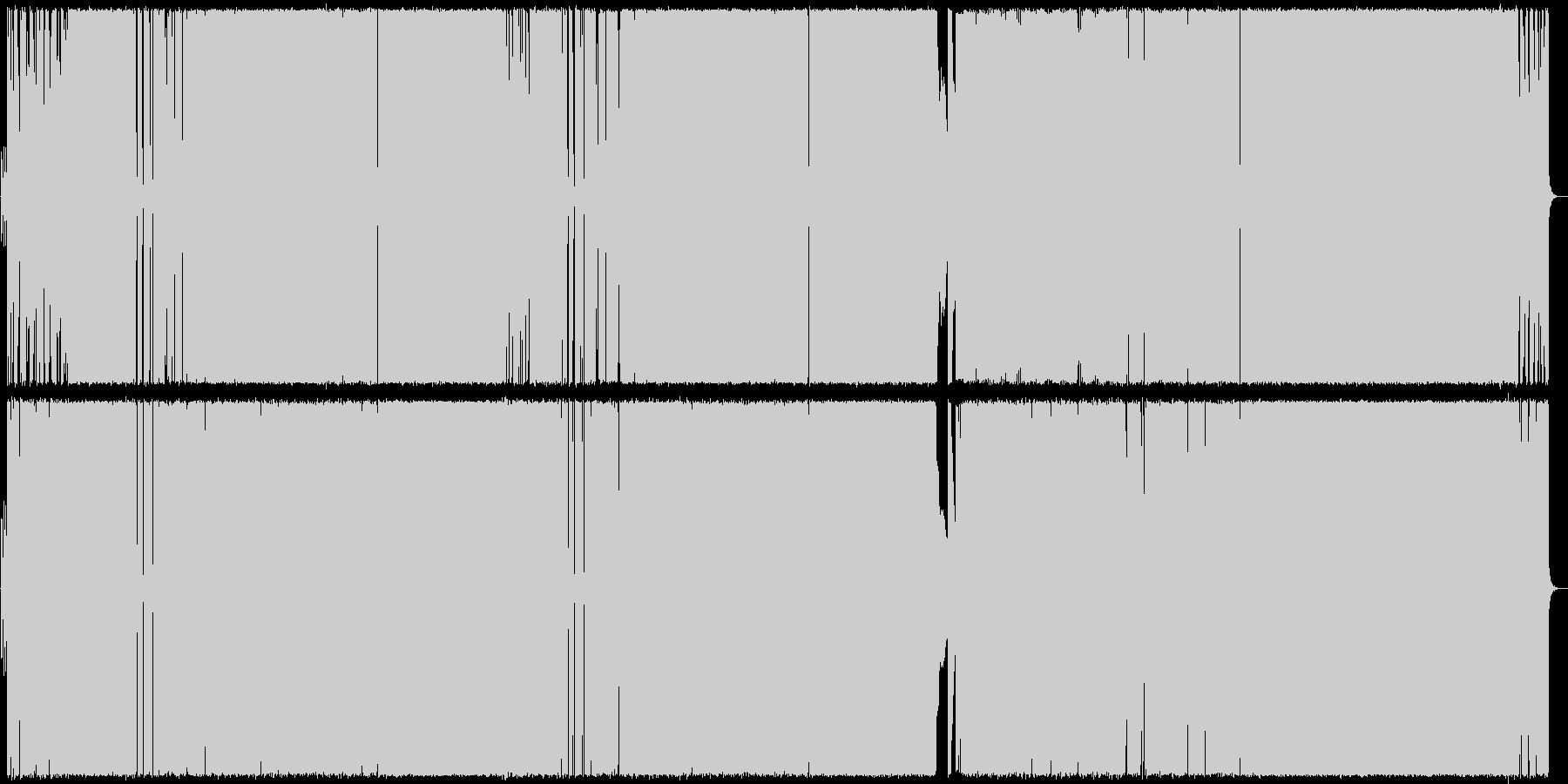 イントロが特徴的なギターロックの未再生の波形