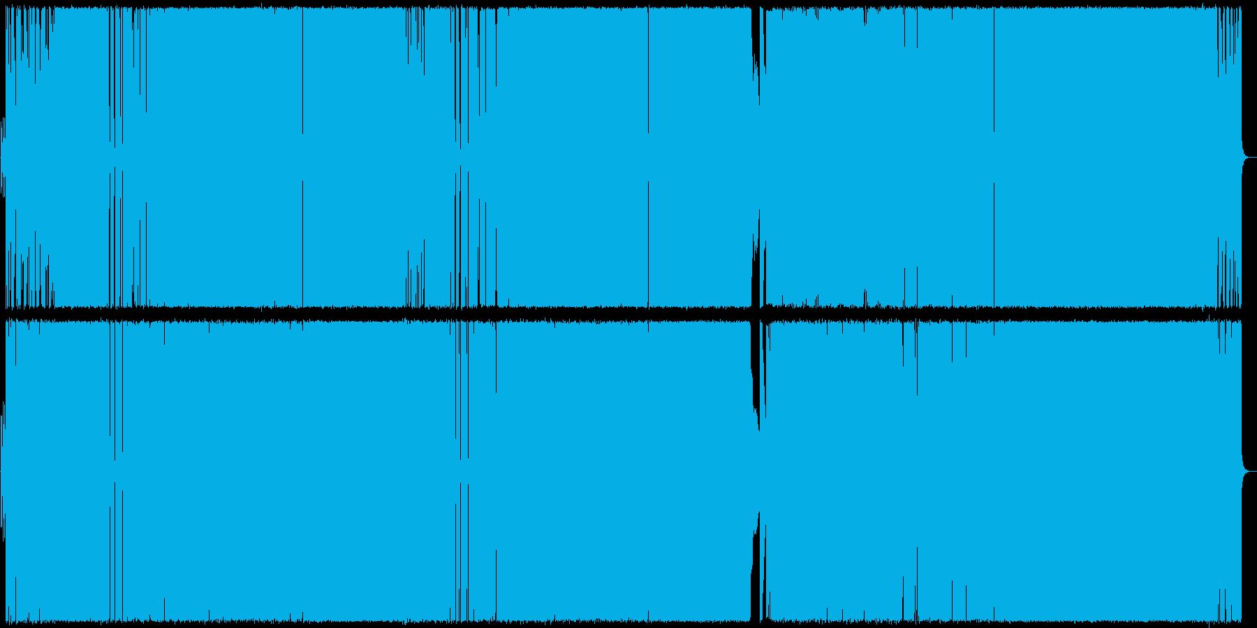 イントロが特徴的なギターロックの再生済みの波形