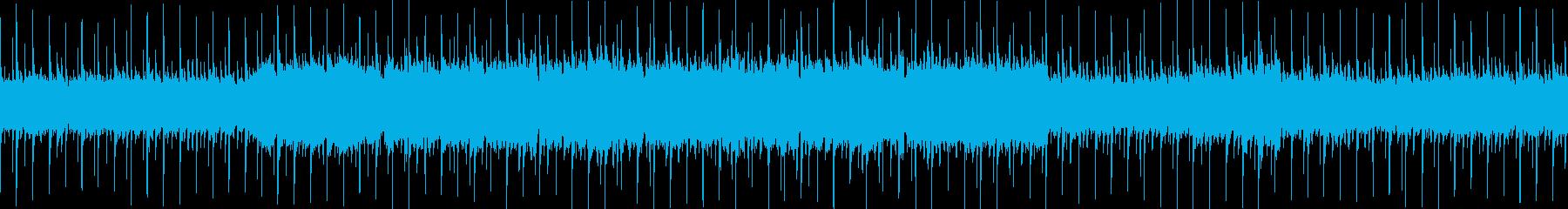 哀愁のあるアコギの伴奏が中心の曲の再生済みの波形