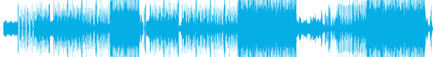 戦隊もののゲームのような印象の曲の再生済みの波形