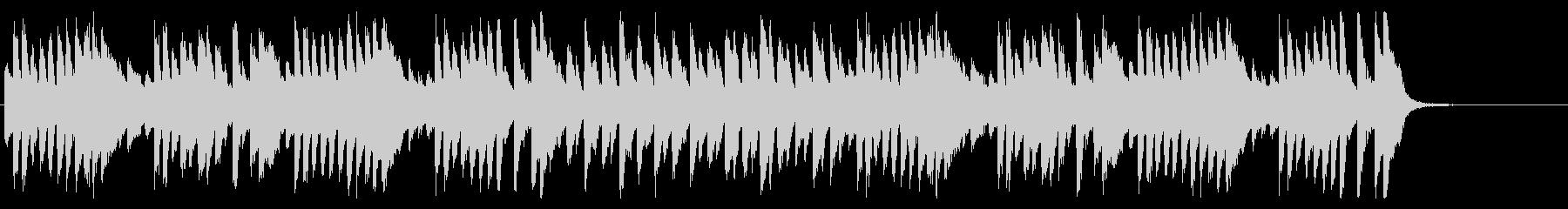 軽快なピアノのんの未再生の波形