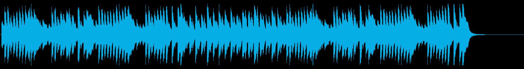 軽快なピアノのんの再生済みの波形