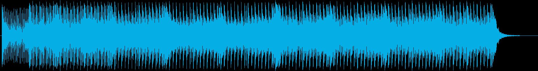 16ビートEDM風和風曲の再生済みの波形