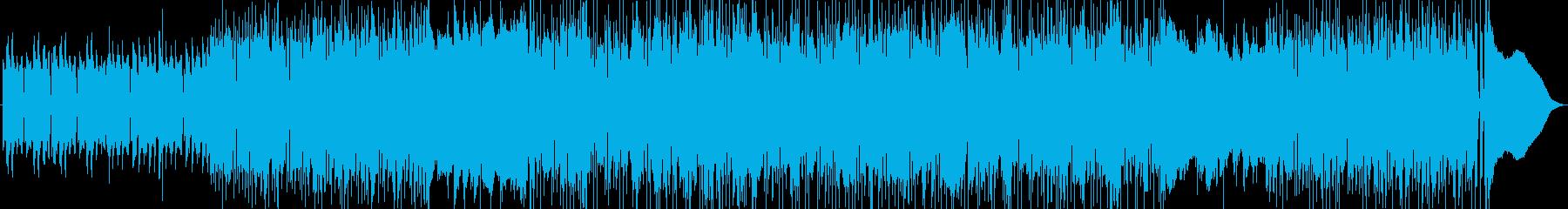 おしゃれで疾走感のあるピアノジャズの再生済みの波形