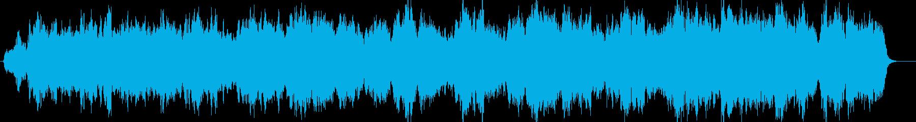 ゆったりとしたオーケストラ楽曲の再生済みの波形