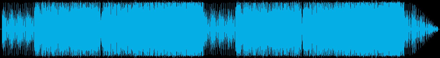 近未来的で爽やかなエレクトロニカの再生済みの波形