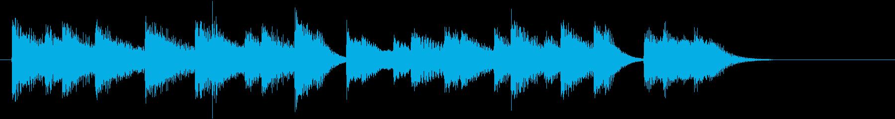 シンプルジャズの楽しい春のピアノジングルの再生済みの波形
