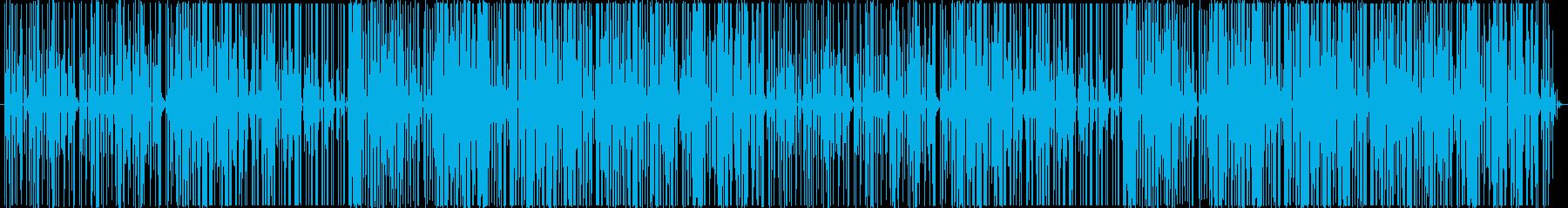 陽気でダンサブルなファンクビートのハウスの再生済みの波形
