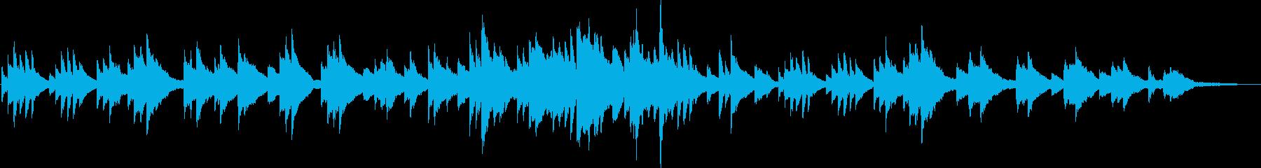 映像向けの爽やかで切ないピアノソロの再生済みの波形