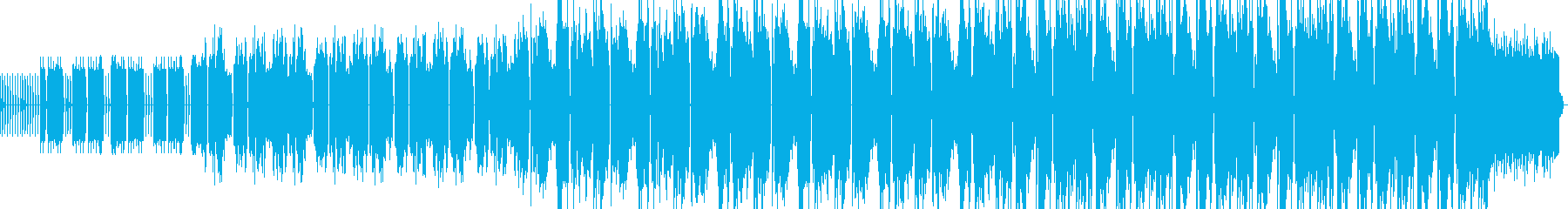 コミカルな1分間ゲームミュージックテクノの再生済みの波形