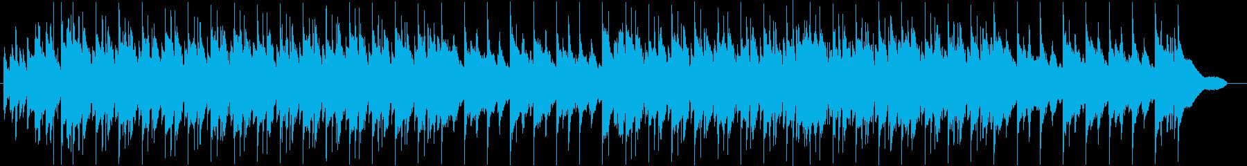 休日やほのぼのした日常をイメージした曲の再生済みの波形