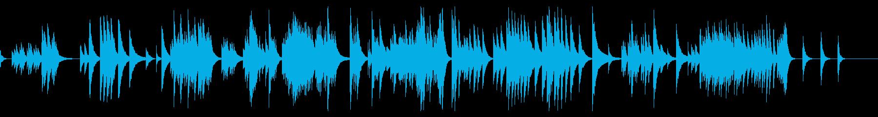 「亜麻色の髪の乙女」オルゴールver.の再生済みの波形