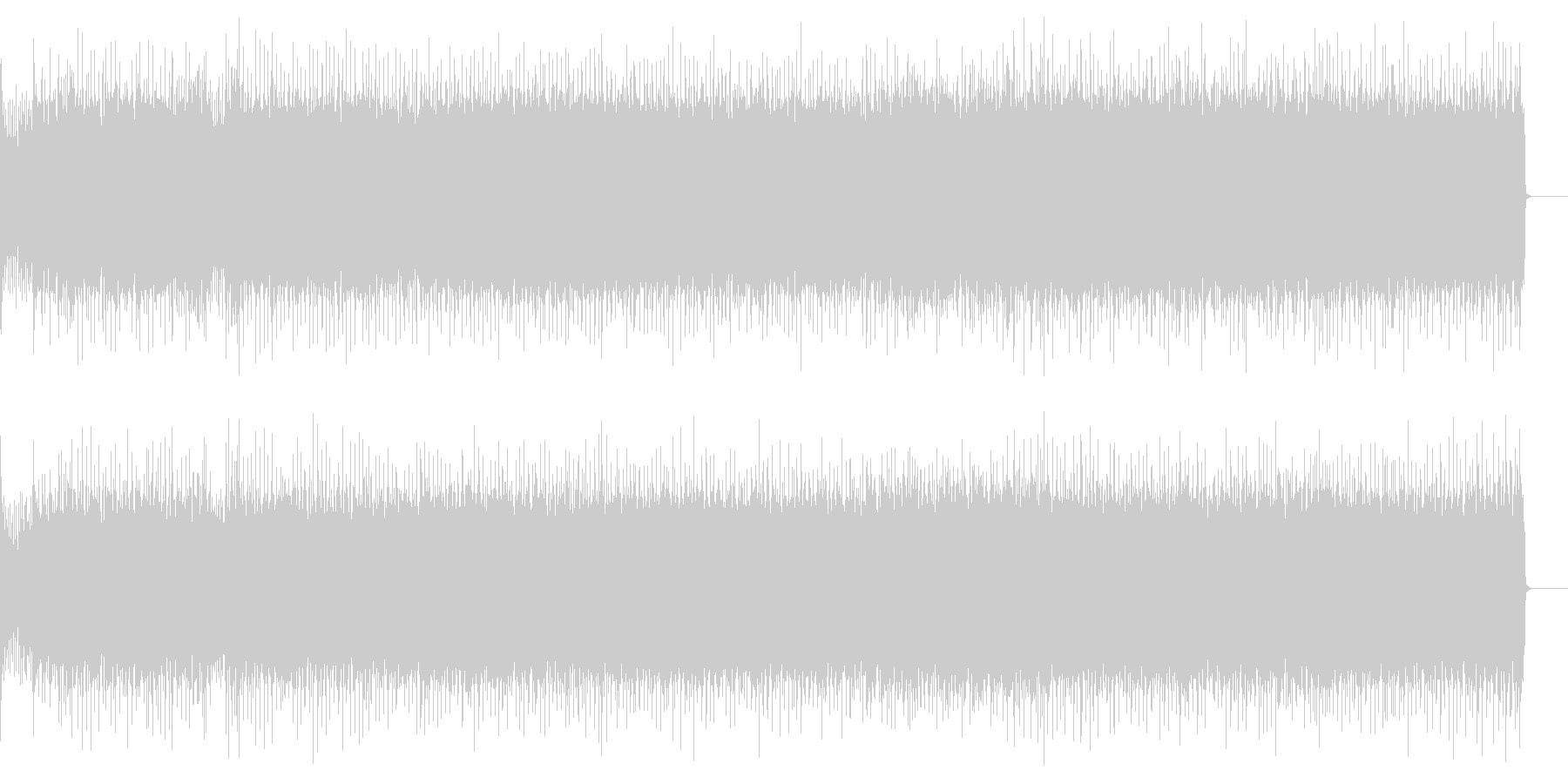 疾走感溢れるハードロック(フルサイズ)の未再生の波形