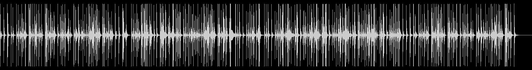 ワイングラスの音で作ったリズムBGMの未再生の波形