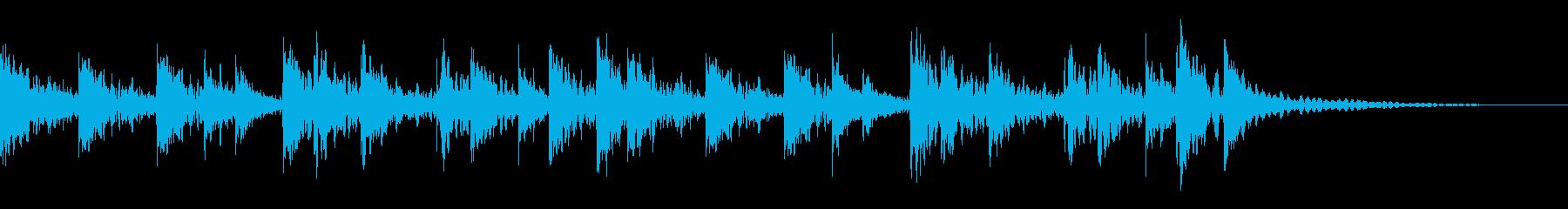盆踊り、音頭、和太鼓定番打ち(金物入り)の再生済みの波形