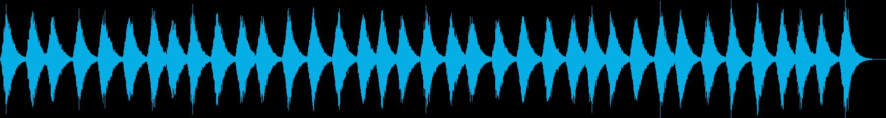 暗い雰囲気の環境音の再生済みの波形