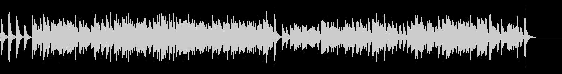 チャップリン風コミカルなラグタイムピアノの未再生の波形