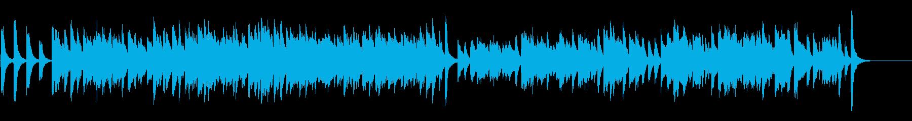 チャップリン風コミカルなラグタイムピアノの再生済みの波形