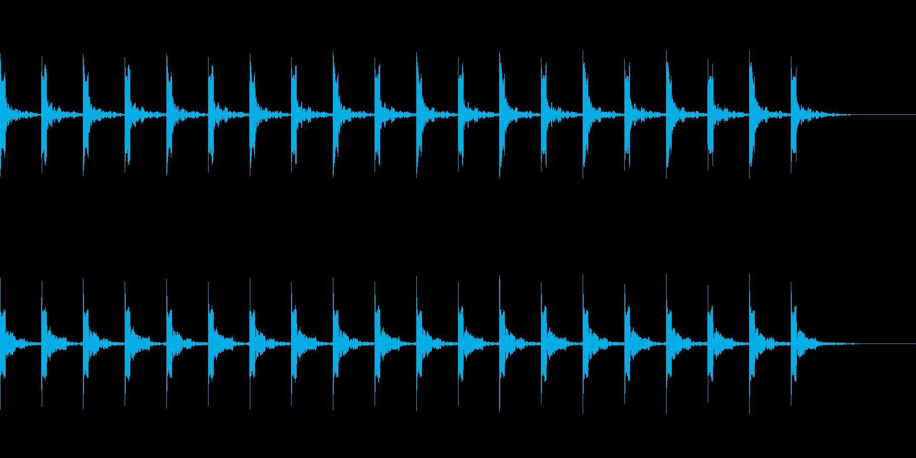 カウント20秒シンプル ピッピ の再生済みの波形