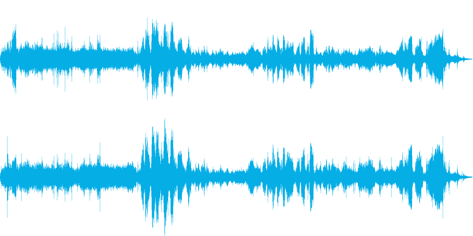 セリ開始を告げるベルからセリの開始までの再生済みの波形