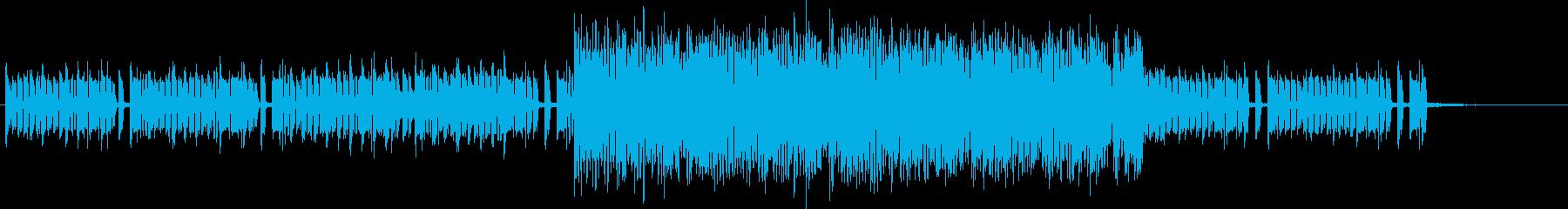 ピコピコサウンドでダークな疾走感ある曲の再生済みの波形