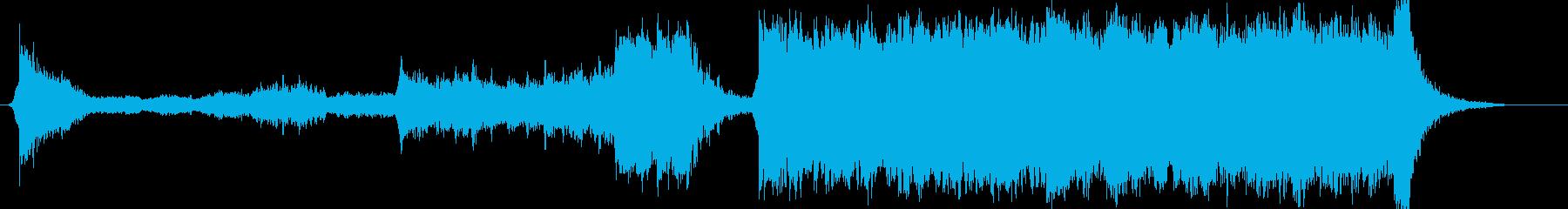アクション映画風BGMの再生済みの波形