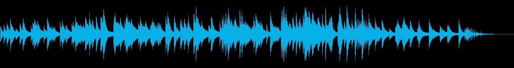 ムードのあるジャズ風ラウンジピアノソロの再生済みの波形