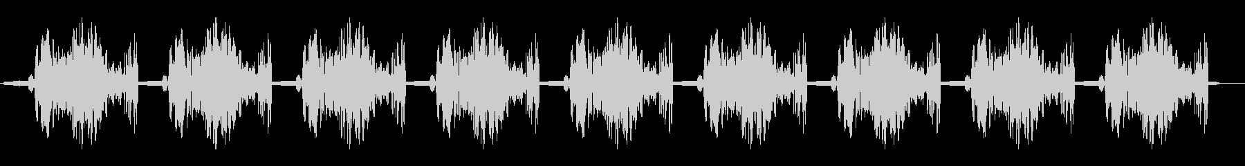 ホギューホギュー・・・(繰り返す効果音)の未再生の波形