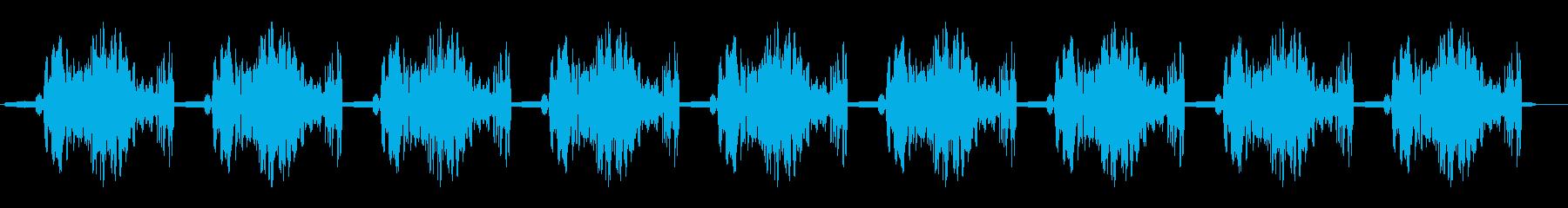 ホギューホギュー・・・(繰り返す効果音)の再生済みの波形