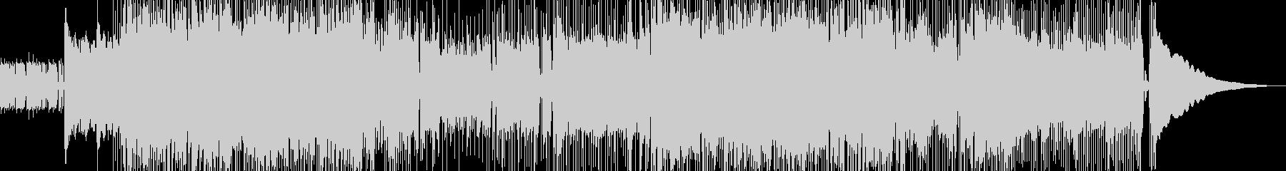 疾走感メロディアスなロックインストBGMの未再生の波形