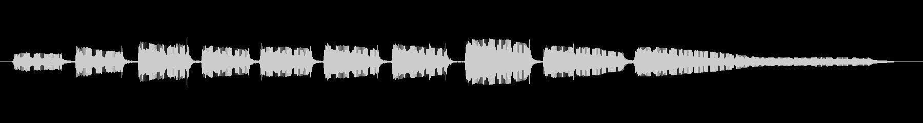生音エレキギター4弦チューニング2の未再生の波形