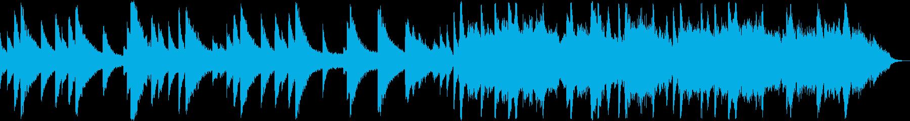 短めなノスタルジックなピアノと弦の曲の再生済みの波形