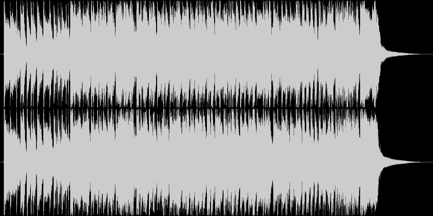 明るい軽快なポップギターロックの未再生の波形