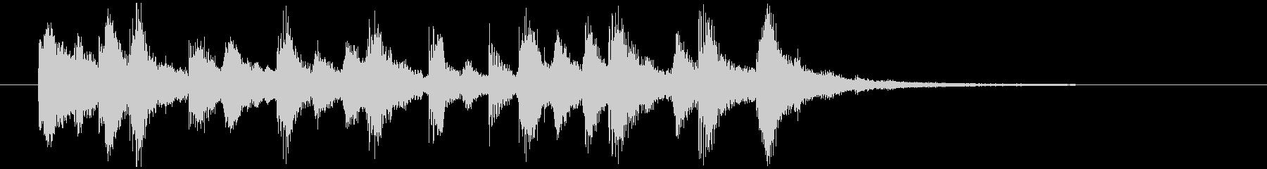 可愛いシンセによるジングル の未再生の波形