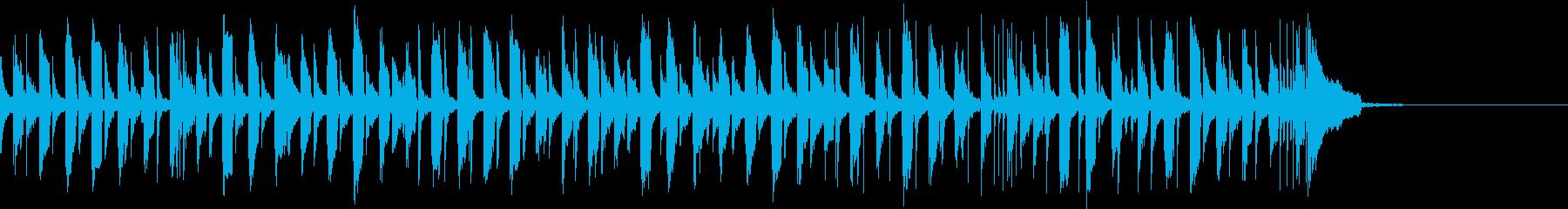 ウクレレ&トイピアノのかわいいジングルの再生済みの波形